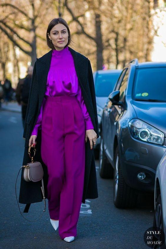 其實我們早就跟上!快看看潮人們怎麼將Pantone 2018年度色「太空紫」穿上身