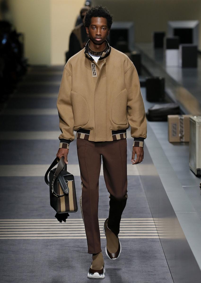 FENDI 2018秋冬男裝大秀 穿梭在機場的時髦旅人