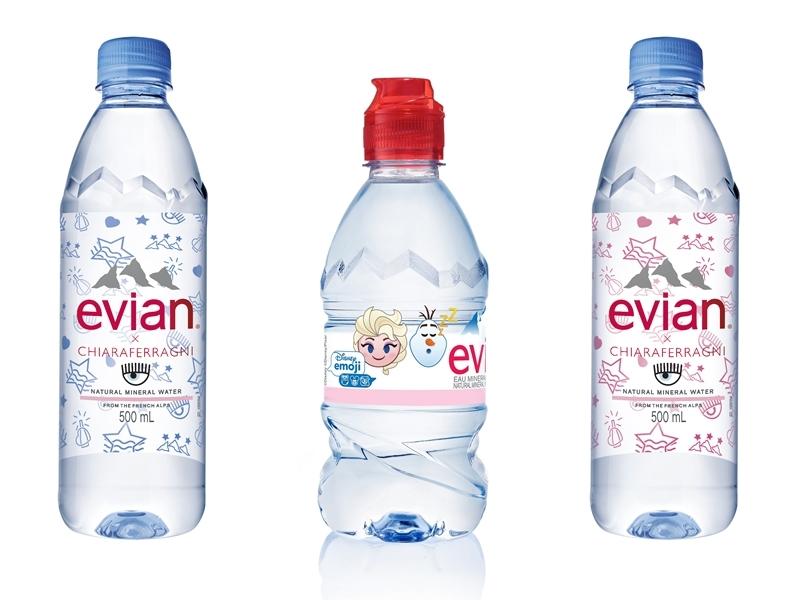 喝水也要可愛+時髦!evian x CHIARA FERRAGNI/Tsum Tsum聯名設計款新上市