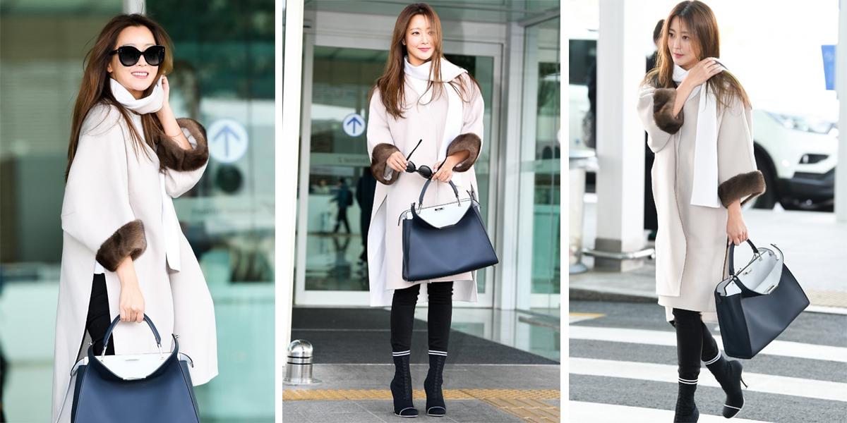 美到逆天!「韓國第一美女」金喜善手提FENDI包出發時裝周,40歲凍齡靠這招