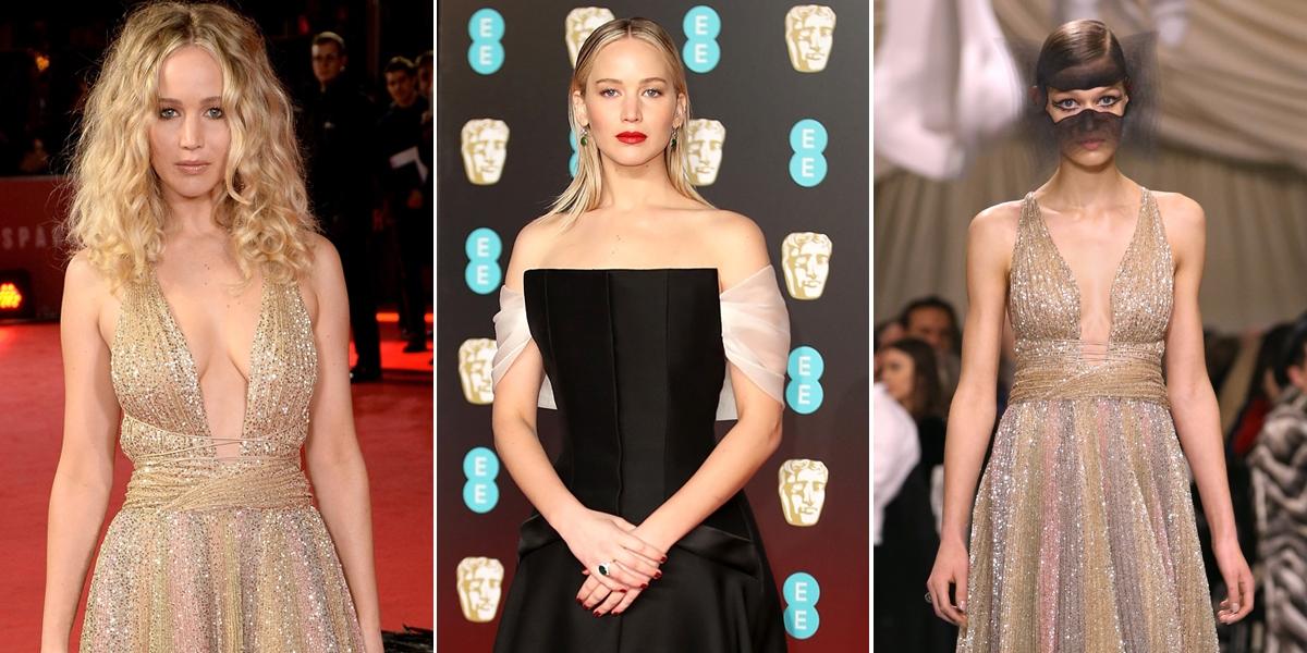 女星稱霸紅毯就靠它!珍妮佛勞倫斯連穿兩套Dior禮服的秘密