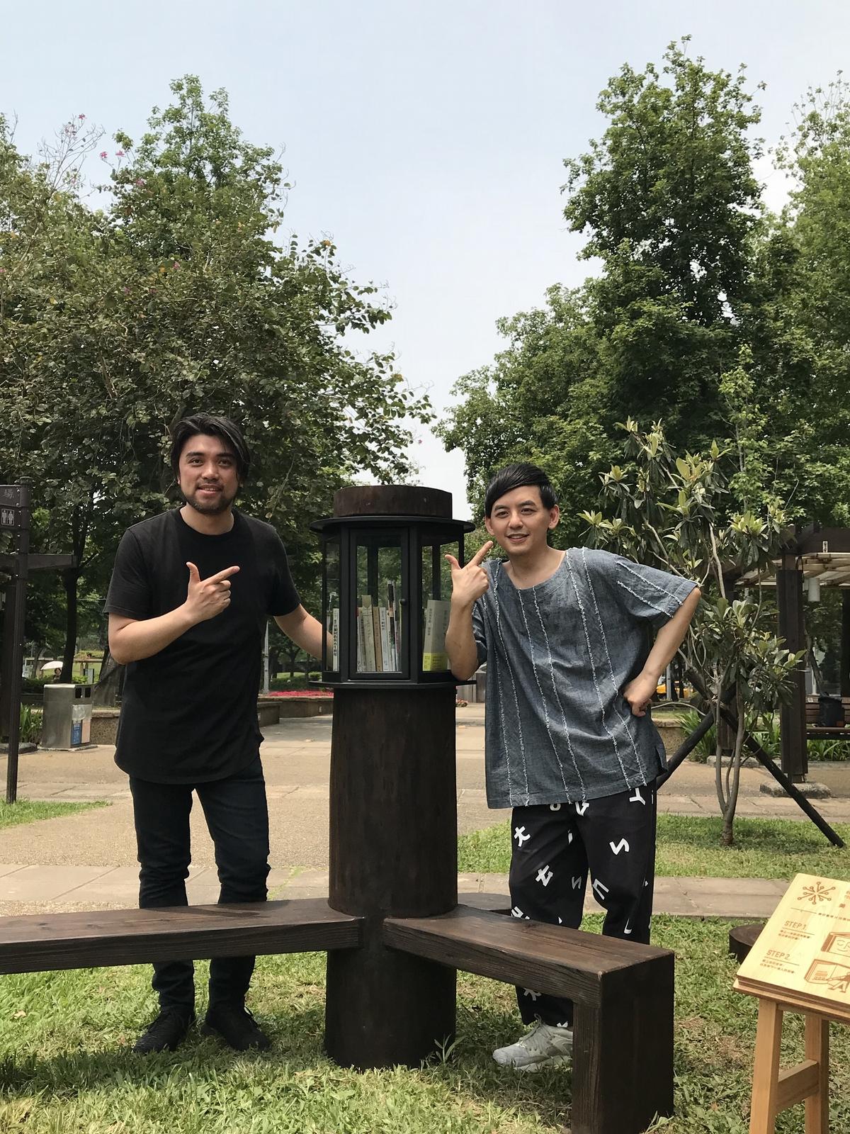 黃子佼通勤時間搞定設計圖 首創「公園書席」坐落台北市中心