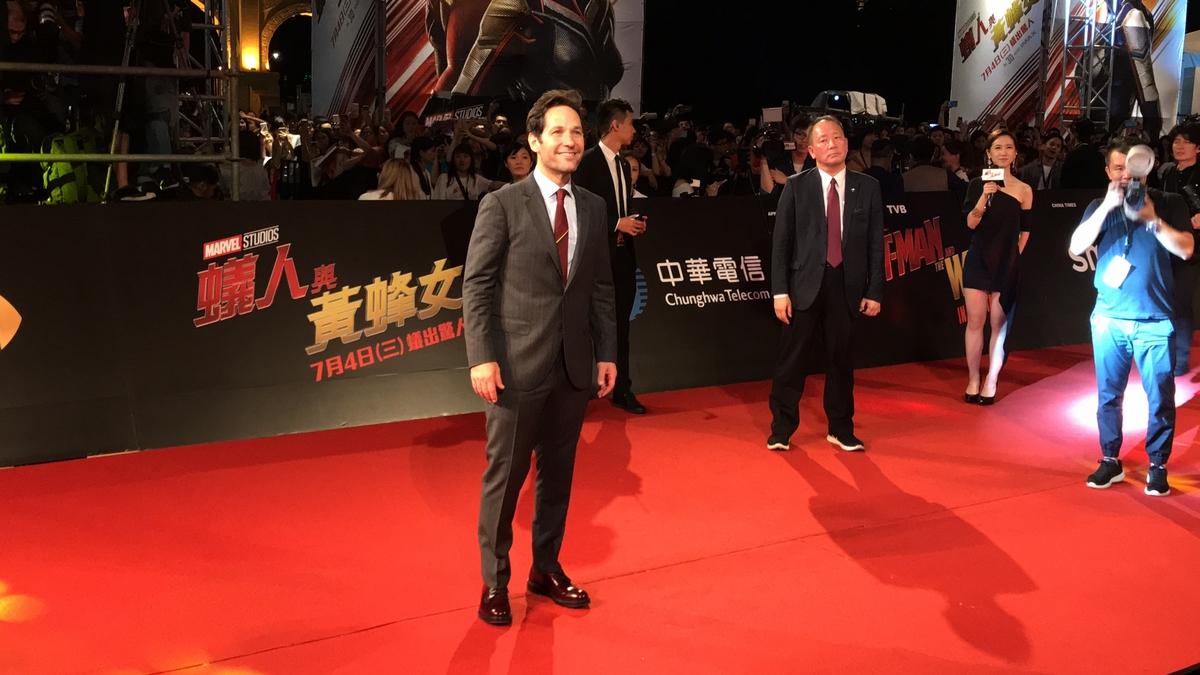 超級英雄訪台/蟻人連喊 4次「愛台灣」 揪黃蜂女紅毯簽足80分鐘