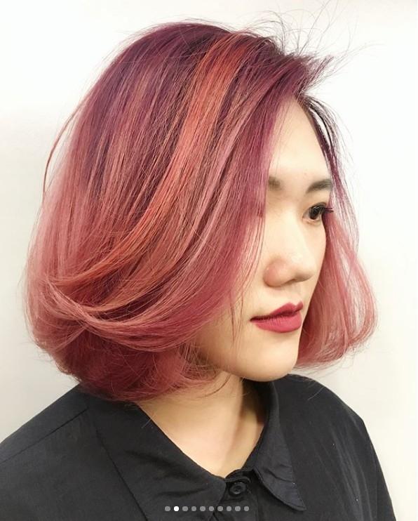 IG潮人都再曬,就像泡泡糖般,具有絕美光澤櫻桃粉紅髮色,真的浪漫破表
