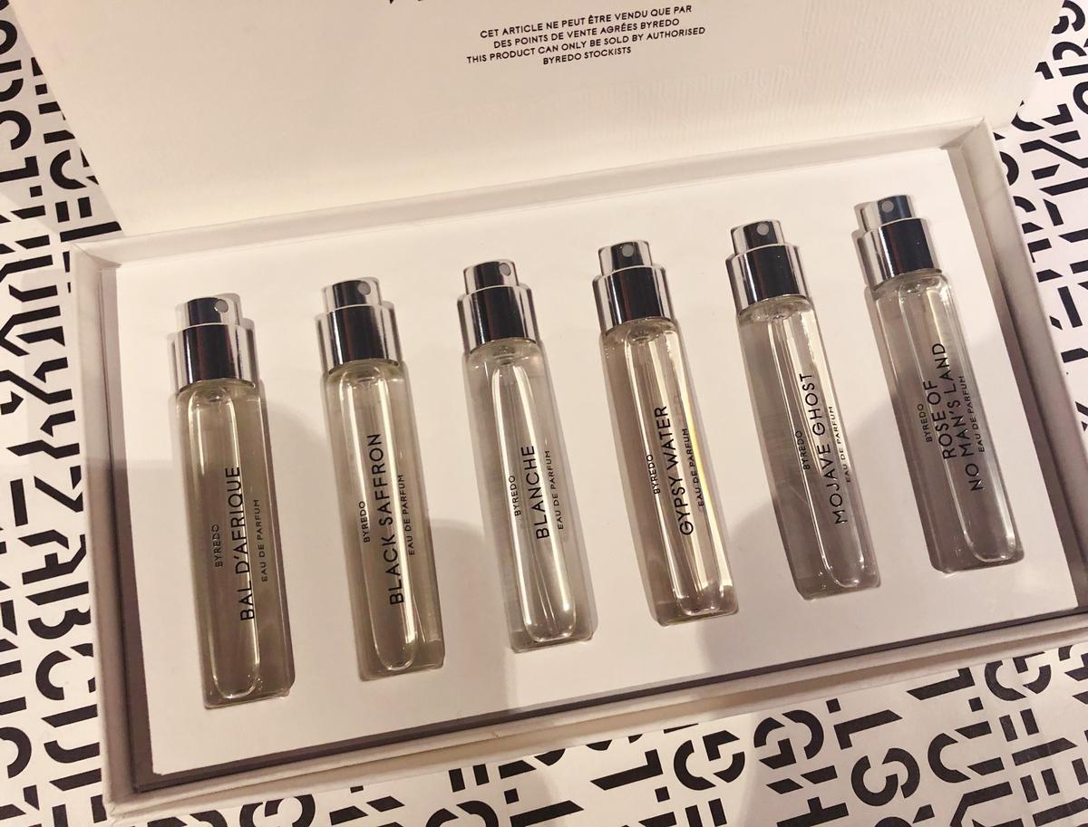 買了跟男友一起用~~BYREDO淡香精真的好值得下手~12ml旅行組,六款熱門香氛都在這一盒