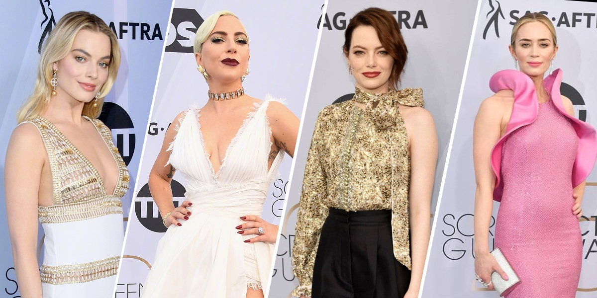 Lady Gaga上演老娘最美,制霸美國演員工會獎紅毯!瑪格羅比、艾瑪史東贏在優雅氣場