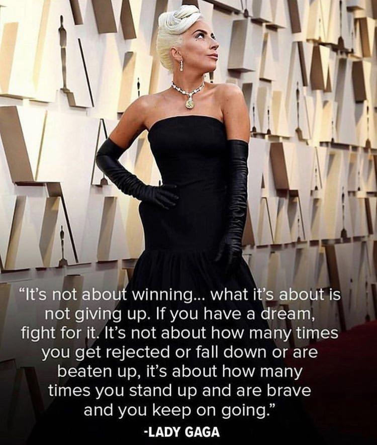 「如果你有夢想,請為它而戰」 女神卡卡暖心告白奧斯卡 真情流露好感人!