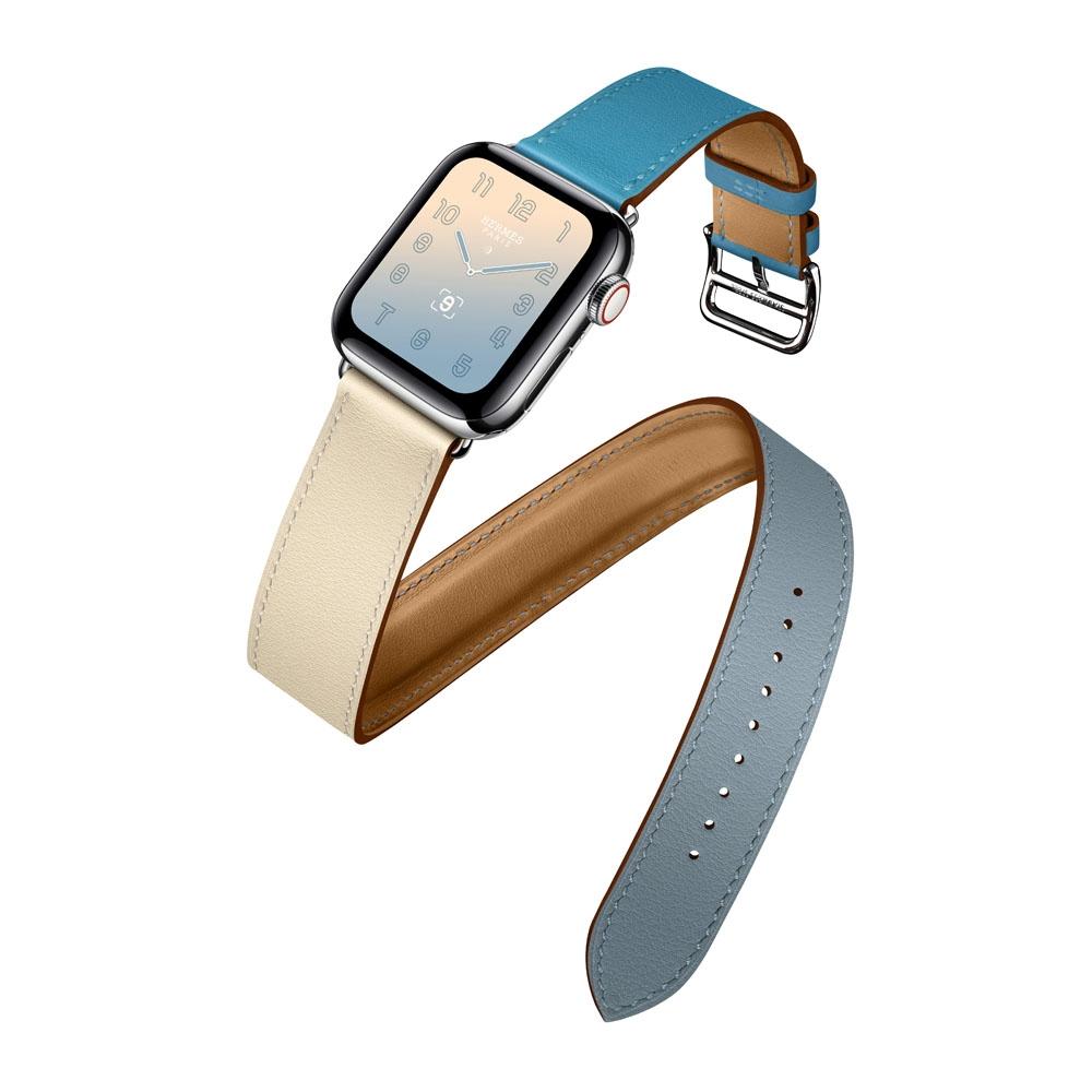 完全擊中少女心!Hermès推出櫻花粉、北極藍漸層色Apple Watch錶帶