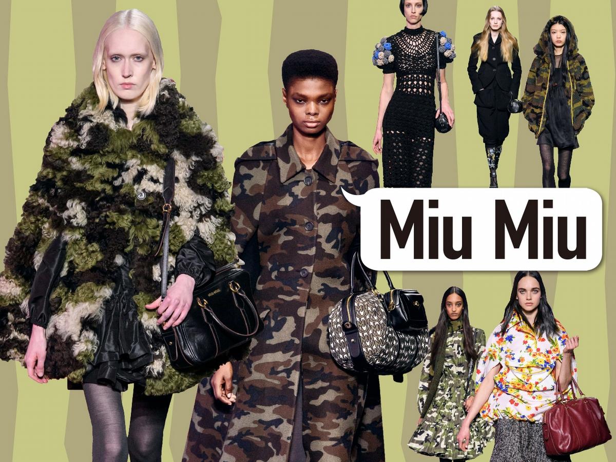 〈2019秋冬巴黎女裝周〉Miu Miu  迷彩女孩的無畏冒險