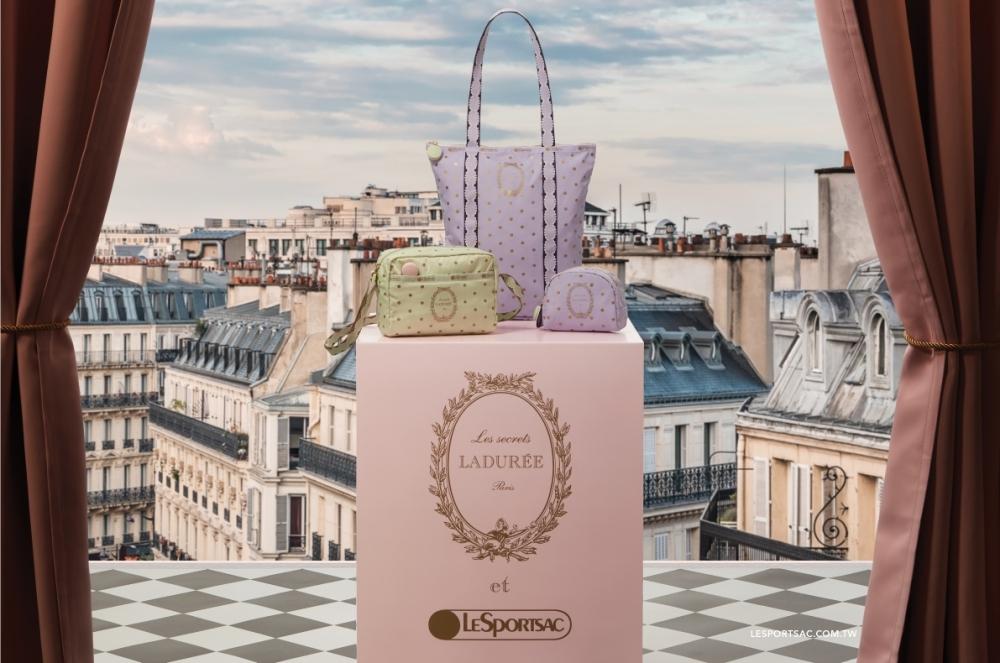 讓人好想咬一口!LeSportsac 與法國馬卡龍 LADURÉE全新聯名,「粉粉」惹人愛呀!
