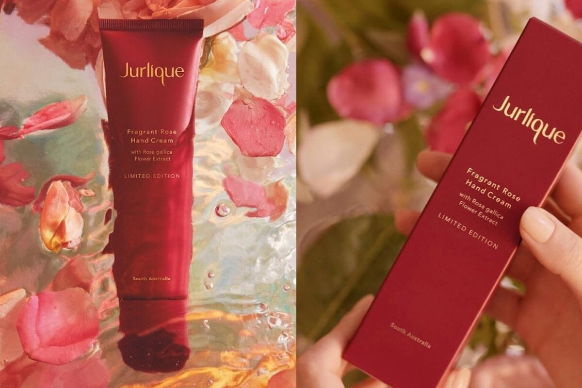 微醺感的勃根地紅配燙金LOGO,就是品味典雅!Jurlique 玫瑰護手霜2019限定版 7/1 限量上市!