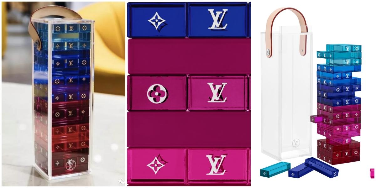 Louis Vuitton 推出豪奢版疊疊樂 每個透明積木上滿滿LV Logo