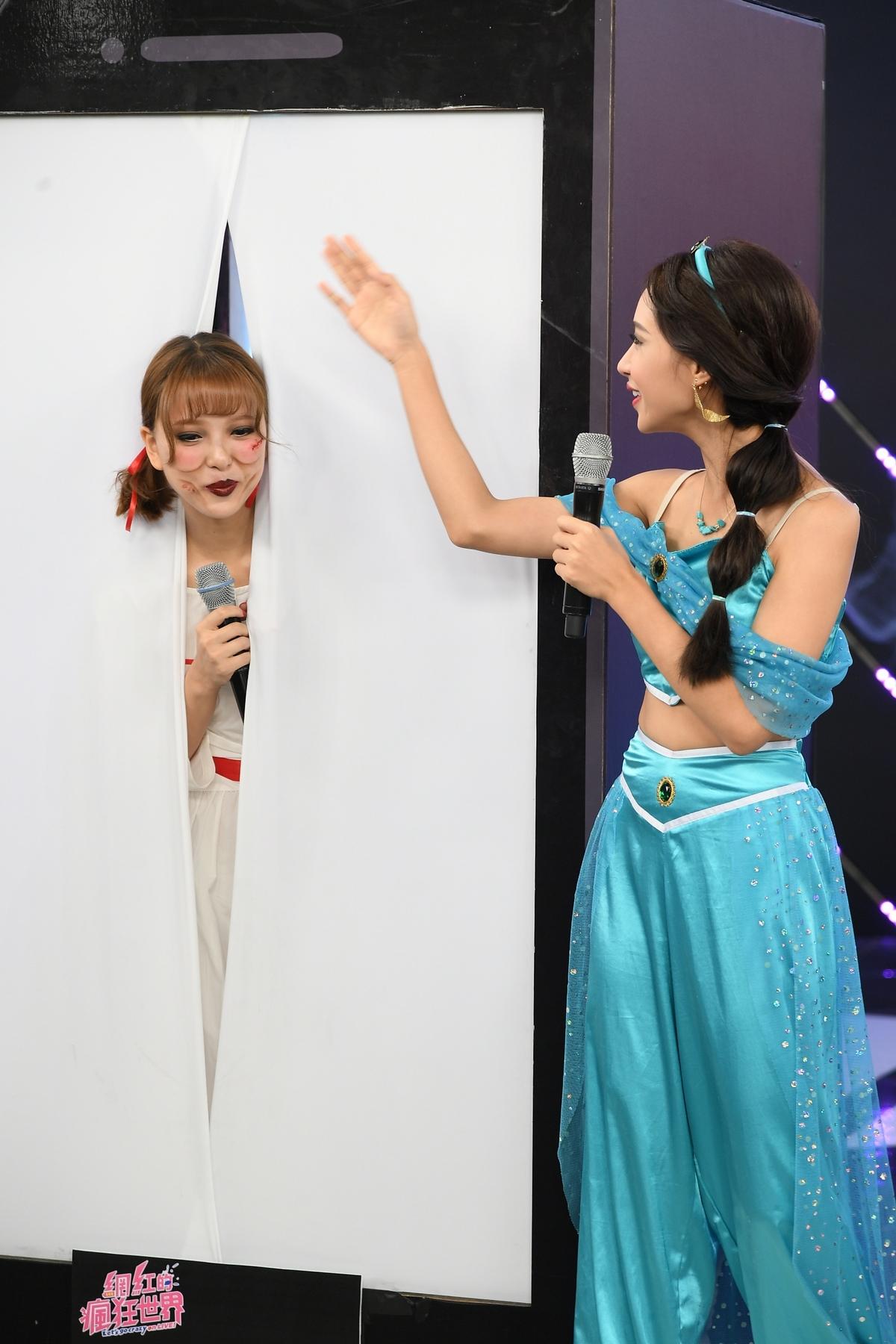 小樂吳思賢扮小丑挺《網紅》萬聖搞鬼趴 項婕如變身安娜貝爾