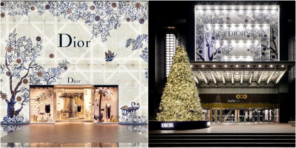 還不快去打卡拍照!Dior聖誕樹降臨台北101,同步推出聖誕精選也一樣美到翻