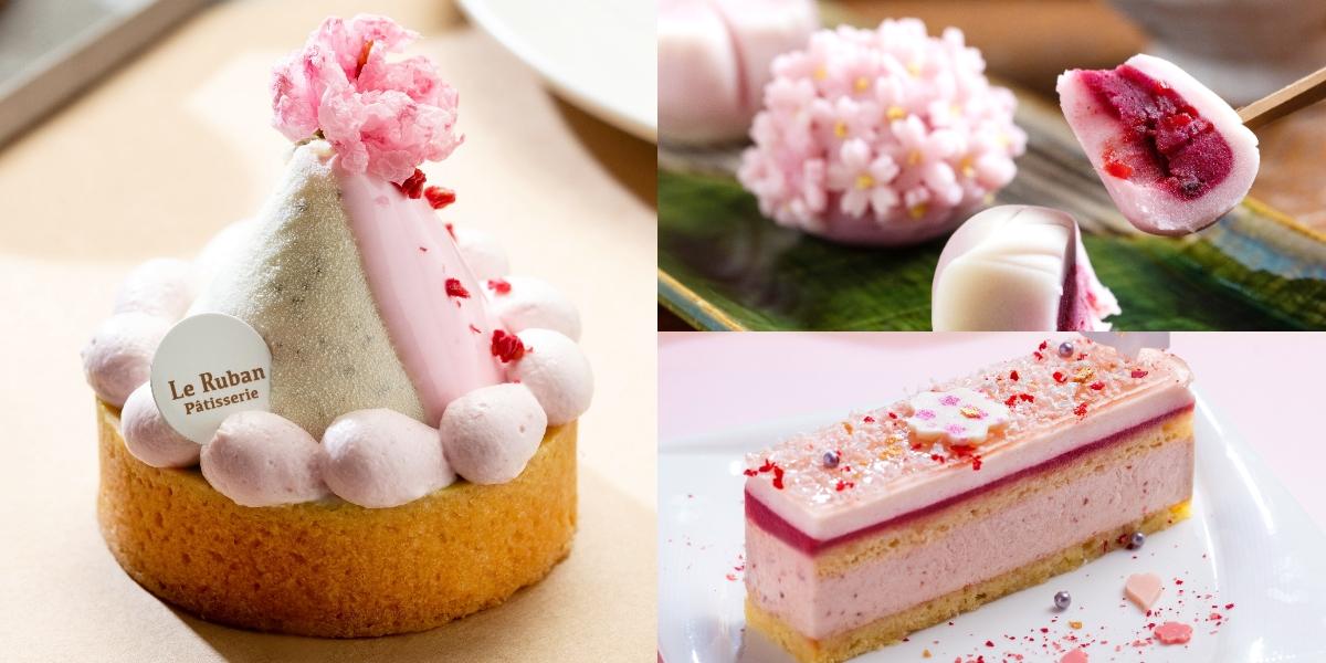 粉紅櫻花風潮來襲!推薦台北3間必吃櫻花甜點店,花瓣和菓子、櫻花戚風蛋糕、酒糖巧克力,期間限定要把握!