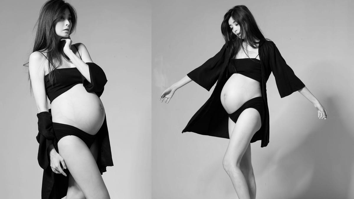 夏如芝挺大肚 孕婦寫真美翻天