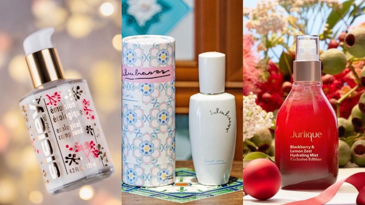 聖誕禮物清單來囉,經典品牌紛紛穿上限量包裝,雪花秀潤燥養膚精華公益限定版、Sisley全能乳液花火瓶,送禮自用都超有面子