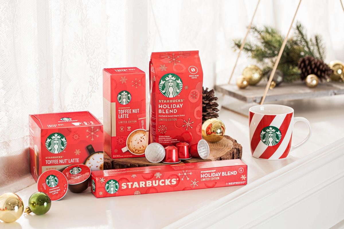 「太妃核果拿鐵」在家就能喝!星巴克X雀巢「Starbucks at Home」耶誕咖啡禮盒暖心登場