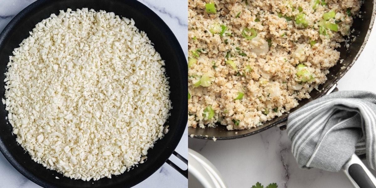 天冷吃太多,現在就來試試零廚藝低熱量的花椰菜米料理
