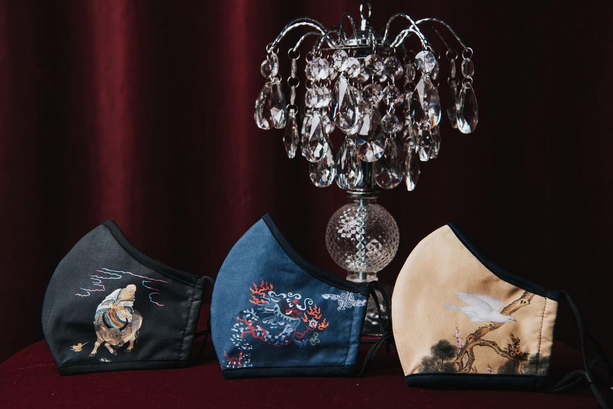 口罩也有復古風!梵洛克首度採用故宮名畫推出3款精品口罩 可重複水洗舒適又環保