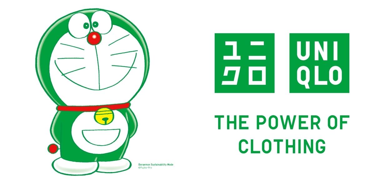 哆啦A夢多了新身分!UNIQLO宣布綠色「哆啦A夢」擔任全球永續發展大使,全球店舖都看得到!