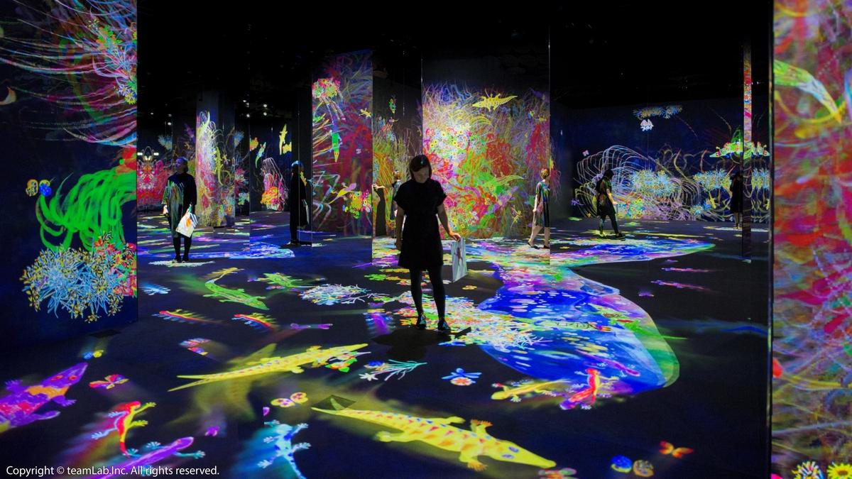 2021必看人氣展覽《日本teamLab互動藝術展》6月台北登場!「未來遊樂園、與花共生的動物們」美到目不轉睛