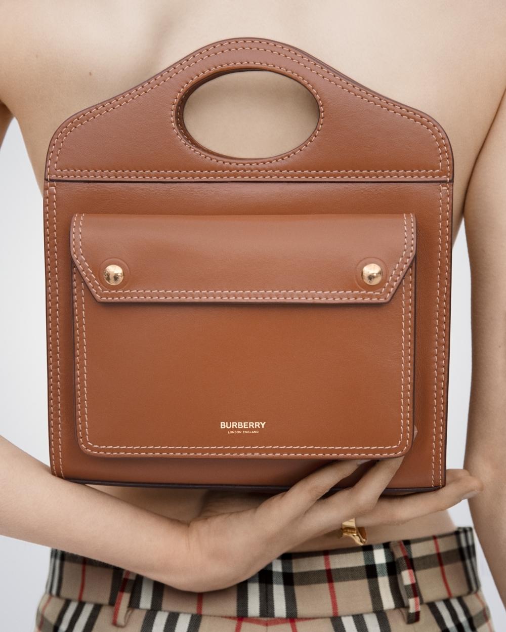 一上手時髦度加到100分!孔曉振、許路兒詮釋BURBERRY新Pocket包,不同穿搭都能駕馭