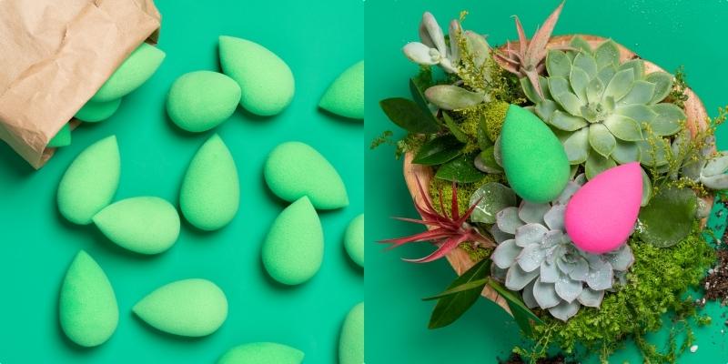 綠色就是愛肌膚的顏色啊!快用『氧森綠』美妝蛋上底妝,底妝變更美,毛孔呼吸好順暢!
