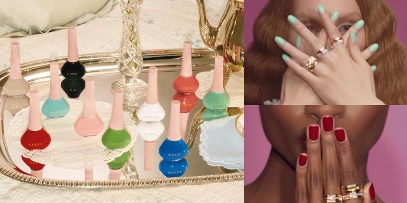 GUCCI  推出全新異彩琉光指甲油,快點擦上指尖新色,幫煩悶的防疫生活增添樂趣吧!