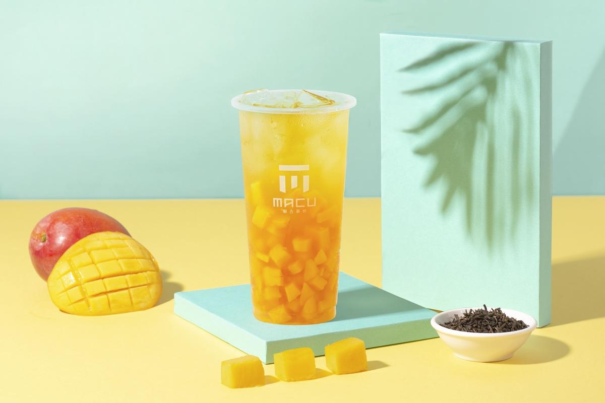 新鮮果肉+翡翠綠茶  麻古茶坊夏日限定「芒果果粒茶」開賣!