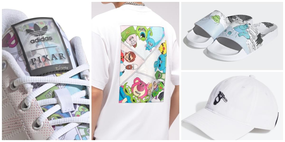 從頭到腳都可愛!adidas Originals與皮克斯合作系列登場,熊抱哥帽、大眼仔毛怪拖鞋必買