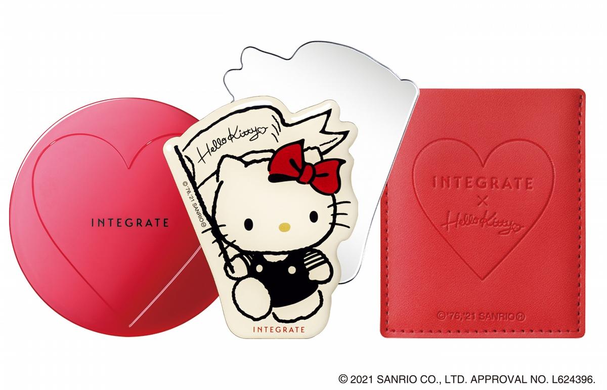 Hello Kitty迷要尖叫了啦!超熱賣的INTEGRATE底妝與眼影,換上Hello Kitty手繪圖騰,每一款都要入手