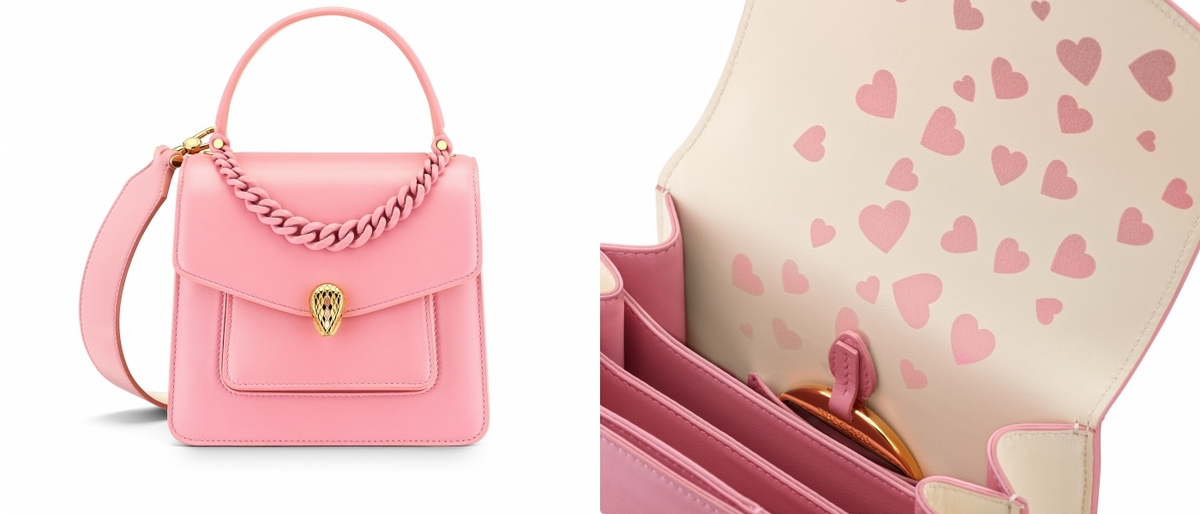 七夕情人節送這一組超有心!寶格麗推出超豪華包款組合,少女莓果粉太夢幻