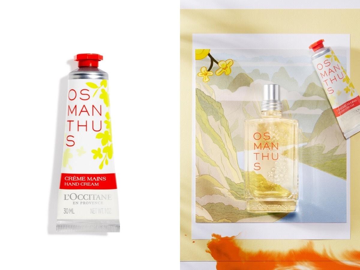 L'Occitane「桂花香氛系列」不只香氣濃郁,萃取過程更是珍貴,馥郁的金桂香氣,一聞讓妳秒入坑