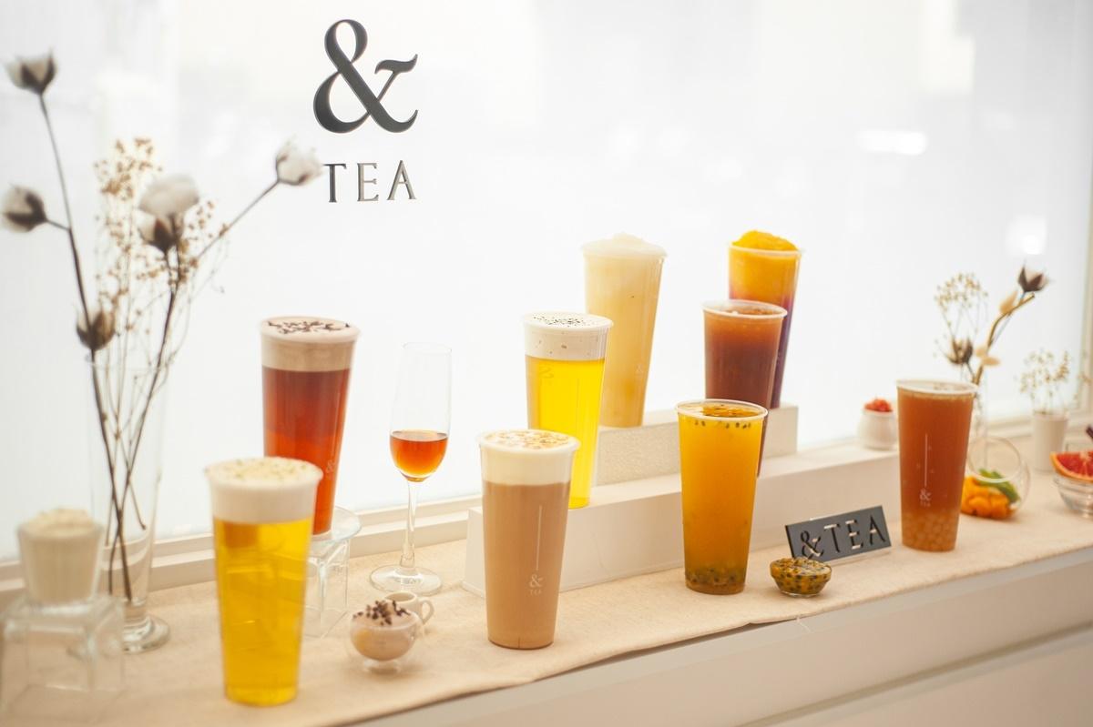 簡約質感手搖再+1 「&TEA」敦北概念店獨家奶霜調飲、夏日水果茶必喝!連續5個小週末指定品項買一送一!