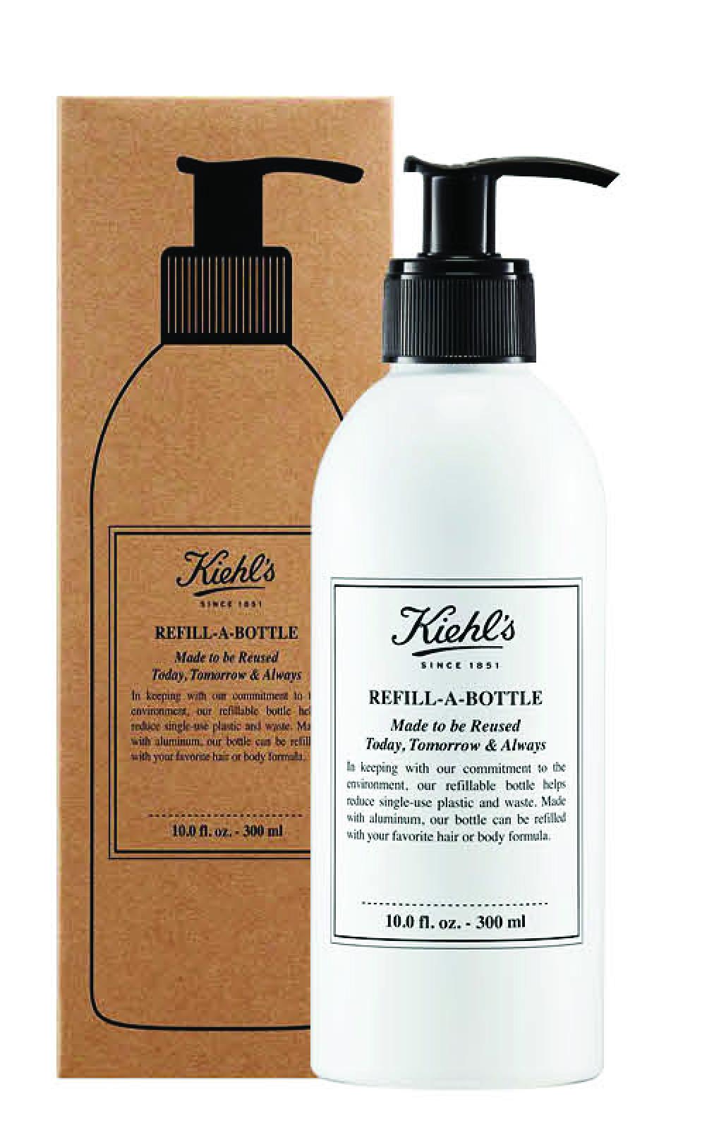 Kiehl's契爾氏首推大容量補充包X 100%鋁製補充瓶,讓我們愛美麗,也要一起愛地球