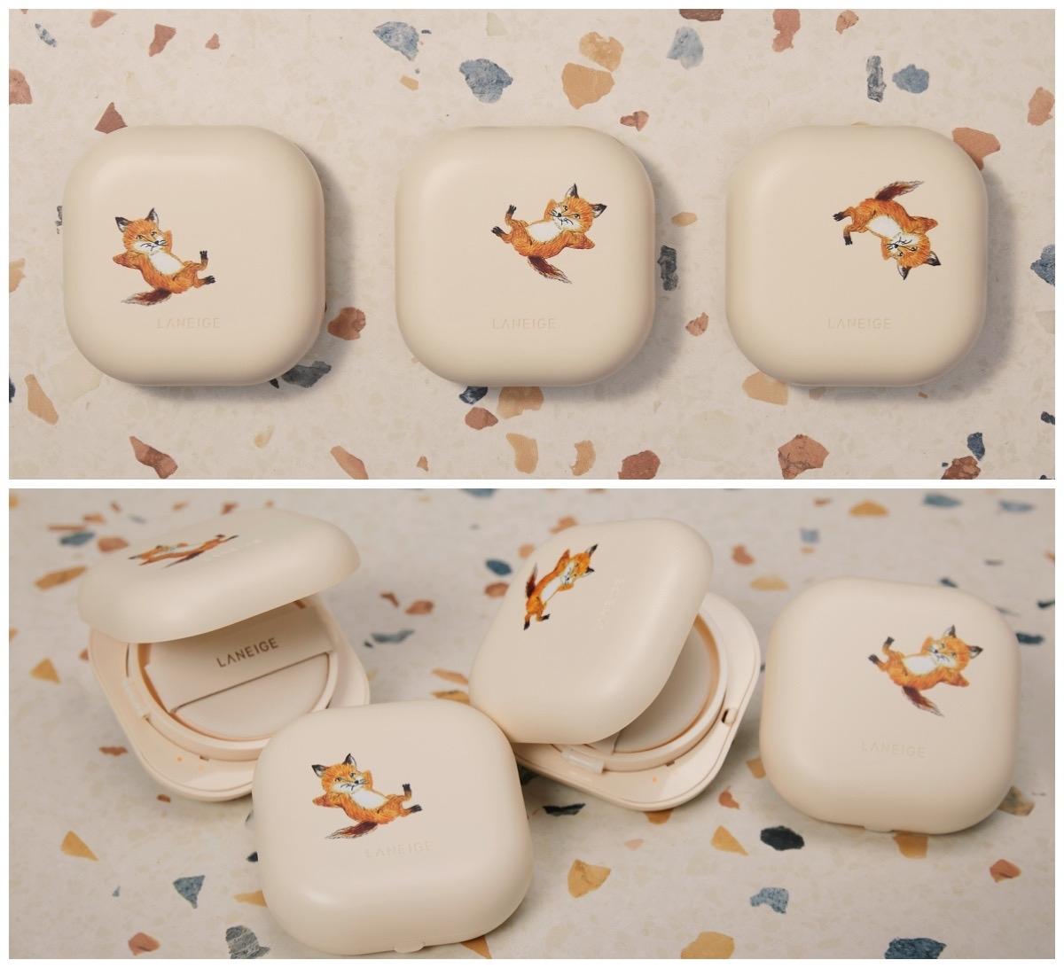 超可愛日法混血Maison Kitsuné小狐貍到蘭芝小方塊氣墊作客囉!還有超可愛限量化妝包、托特包手幾支架,超強聯名波絕對爆擊少女心臟!