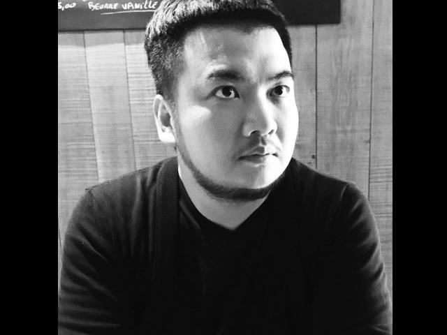 鄒駿昇〈post-adventure〉(後探險時代),90x90cm,複合媒材。