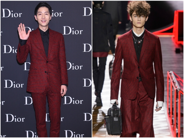 太陽男神宋仲基席港 Dior Homme現場魔力PK赤西仁