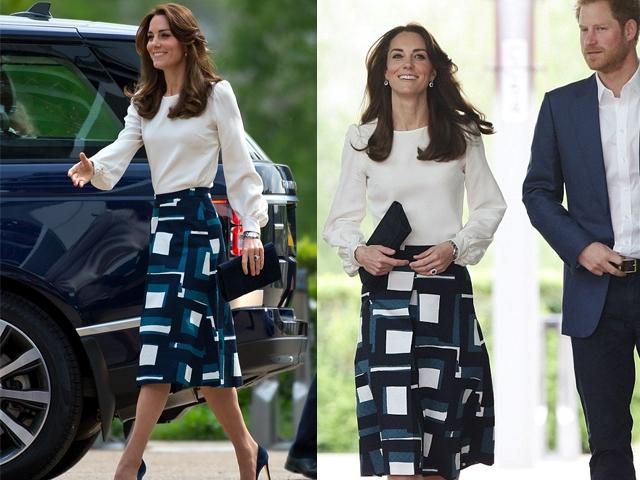 凱特王妃平價時尚作風不變!這件復古圓裙完全可以投資