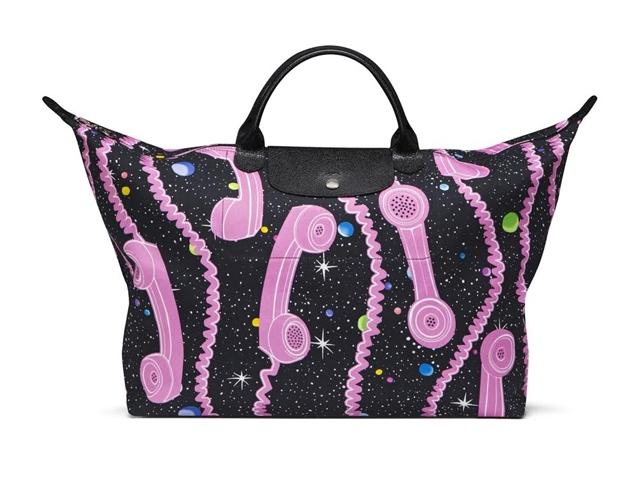 只有Longchamp有,撥通粉紅《長途電話》上太空!