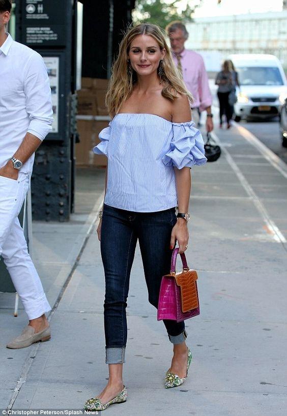 看她穿搭好舒服,學紐約頭號名媛Olivia Palermo 3款「露肩style」