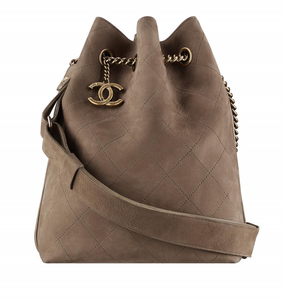 咖啡色soft leather麂皮水桶包  售價NT$149,100
