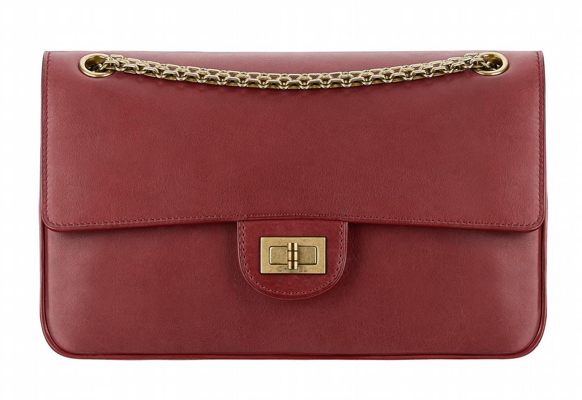 酒紅色soft leather皮革2.55包 售價NT$166,700