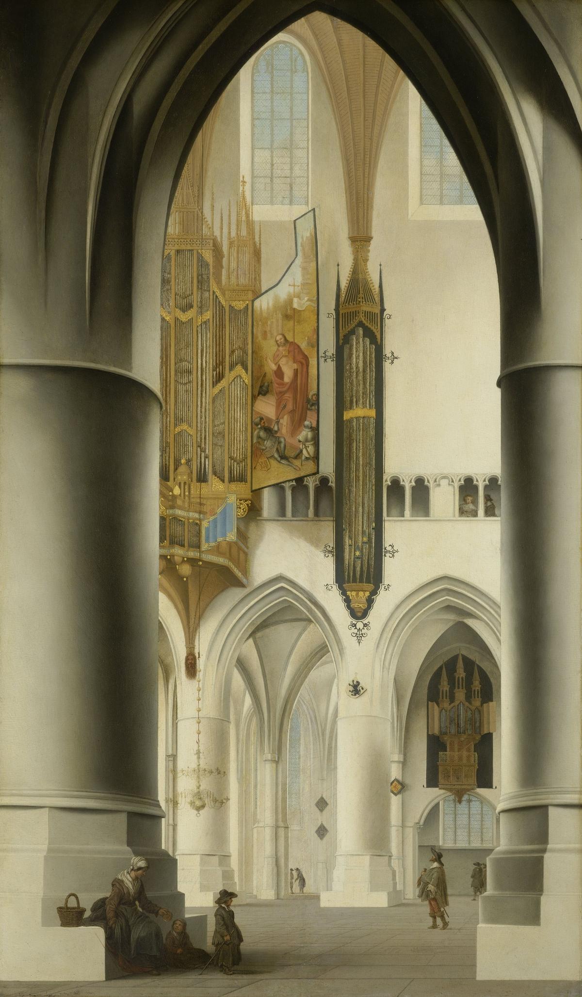 Interior of the Church of St Bavo in Haarlem, Pieter Jansz. Saenredam, 1636
