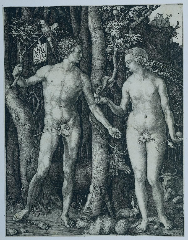 杜勒〈亞當與夏娃〉Adam en Eva, Albrecht Durer, 1504