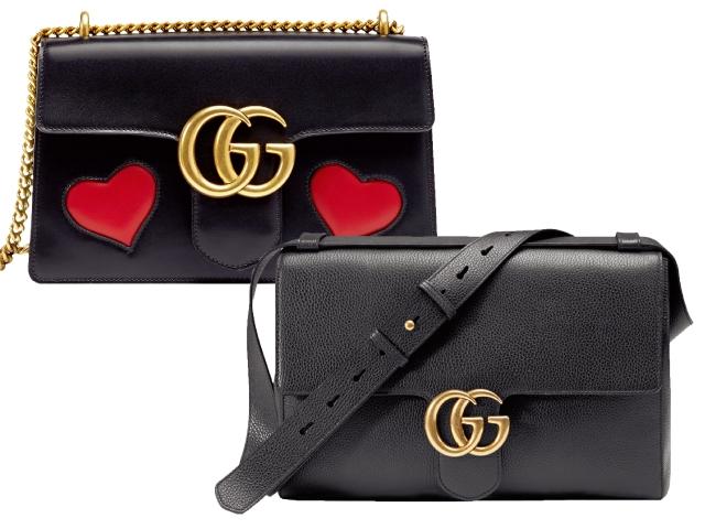 Gucci GG Marmont愛心裝飾鍊帶包、MenGG Marmont斜背公事包