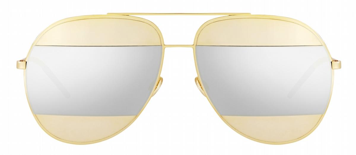 戴副好墨鏡才是夏天該有的臉!Dior Split 拼色飛行墨鏡上街超搶眼