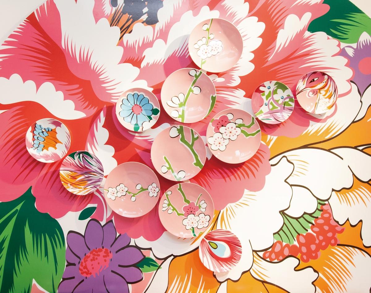 盤中錦團花簇