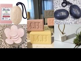 這些香皂也太美了,有天然棉線的,有加天然麩皮,還有粉紅馬卡龍皂,每次洗手都超療癒